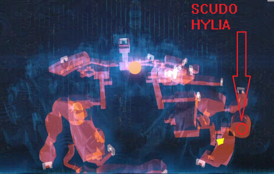 In questo punto troverete lo scudo Hylia